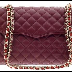 Quilted Affair Burgundy Leather Crossbody